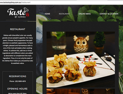 Taste At Sydney – to go place for Chinese cuisine